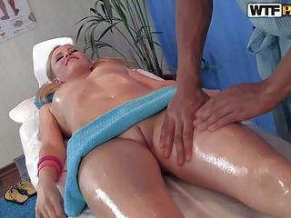 Oiled Up Teen Blonde Ariana Is A...