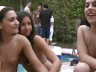 Outdoor Party Pool Teen