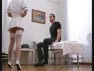 Sexy Nurse Mya Diamond In Stocki...