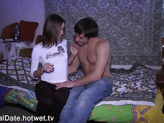 Young Couple Hot Foreplay