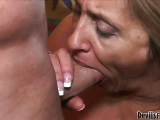 Horny Granny Shows That She Can...