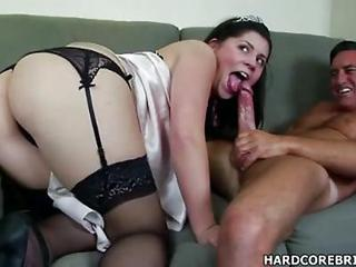 Ass  Blowjob Bride  Stockings