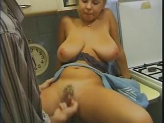 Amazing Big Tits Cute Hairy Kitchen  Natural  Vintage