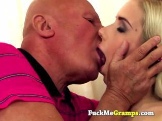 Panty sniffing grandpa sucked in this hardcore old vs young porn