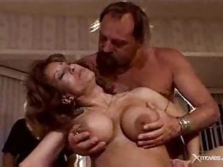 Watching his old wife exploited by   hard cocks.F