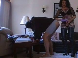 Wife fuck her man with strapon again