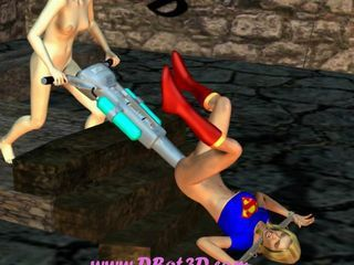 Supergirl drilled hard with big machine