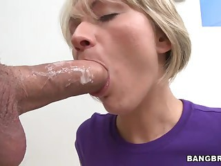 Huge cock and cumshot for Holly Marie Bryn