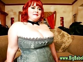 Bbw plumper strips for a lucky guy
