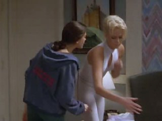 Stunning Charlize Theron In a Super Tight Grey Leotard - Movie Scene