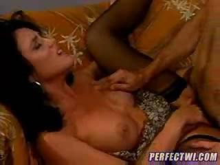 Brunette Hardcore  Stockings Vintage