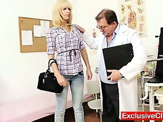 Babe Blonde Doctor Old and Young