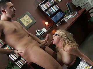 Big Boobs Dylan Riley Office Scene Sucking Hard Cock As Secretary