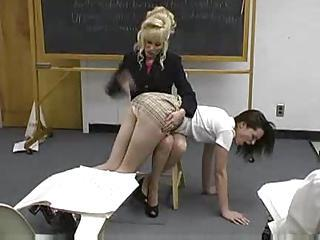Teacher Spanks Girl In The Classroom