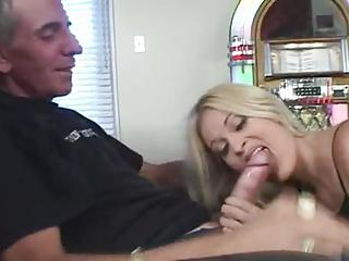 She Gives Head To A Big Fat Cock