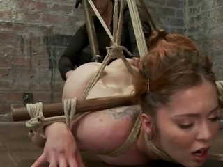 Jessie endures an ankle to curls only suspension, is tormented not far from...