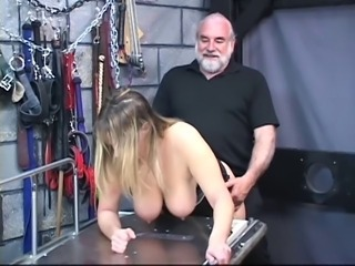 Bdsm Bondage Old and Young Slave