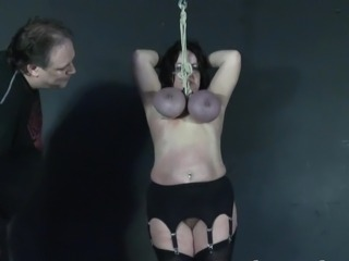 Andreas knocker hanging and x-rated old breast torture of hung