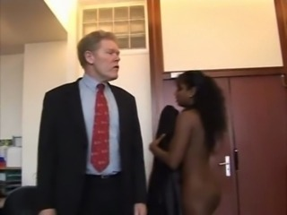 Ebony Interracial Old and Young Teen
