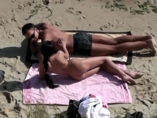 Beach Girlfriend Nudist Outdoor Teen Voyeur