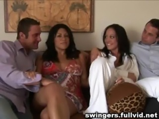Brunette Groupsex  Swingers Wife