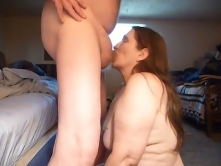 Amateur Blowjob Chubby Cumshot Swallow Wife