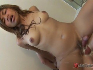 Asian Hairy Riding Teen