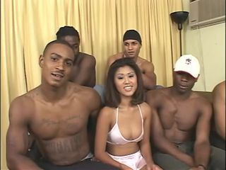 Asian Gangbang Hardcore Interracial