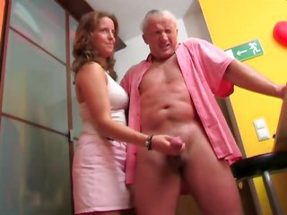 Handjob Old and Young Teen