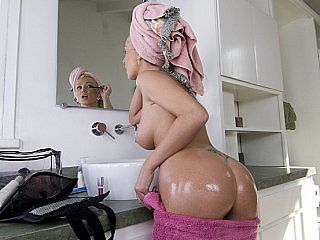 Amazing Ass Bathroom  Oiled