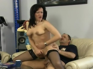 Hardcore Mature Riding  Stockings