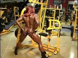 Amazing Ebony  Muscled Sport