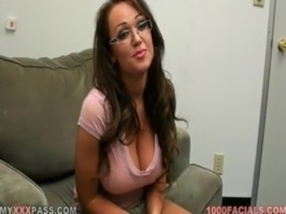 Amazing Big Tits Cute Glasses  Natural Pov