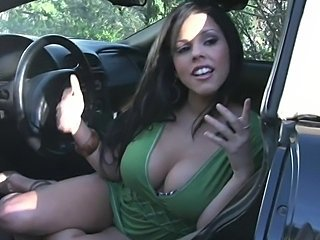 Busty brunette sucks and fucks