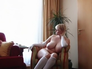 Babe Store pupper Blond Lubben Naturlig Russisk Solo