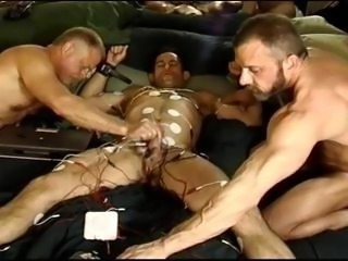 Full body electro, cock, balls, butthole, chest, tits.  Monster Dicked Scott...