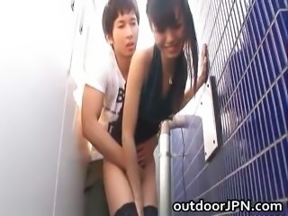 Asian Clothed Doggystyle Japanese Outdoor Teen