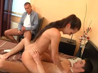 Dudes Watch Their Girls Get Fucked-Part2
