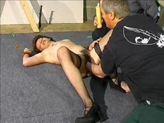 French MILF Pussy Abuse and Whipping