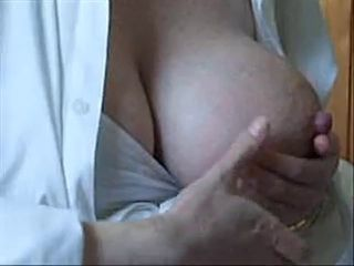 Sexy Clare&,#039,s big lactating tits being milked