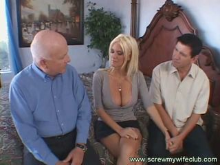 Hot blonde wife banged in front of supportive husband