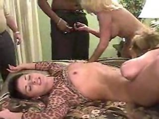 Interracial swinging orgy with matures