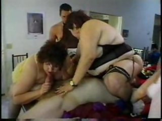 Wild orgy with crossdressing and BBWs