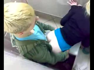 Russian nightclub toilet fuck...