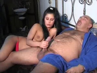 Brunette Cute Daddy Handjob Italian Small Tits Teen