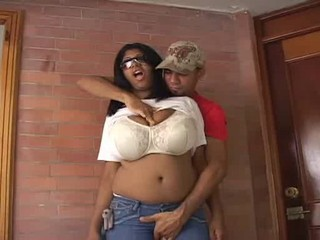 Amazing Big Tits Chubby Ebony Jeans