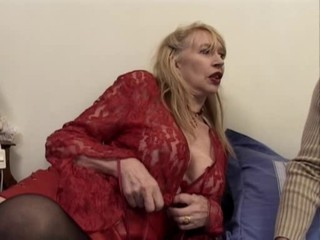 Big Tits French Mature Stockings