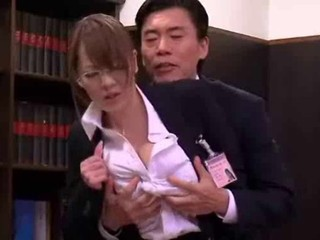 Asian Babe Big Tits Glasses Japanese Office Pornstar