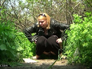 Mature Outdoor Pissing Voyeur