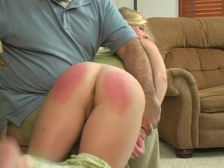 Grounded girl spanked _: spanking